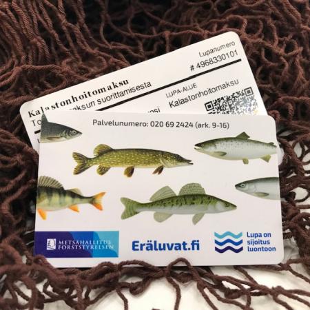 Messuilta saatava kalastuskortti on säänkestävä