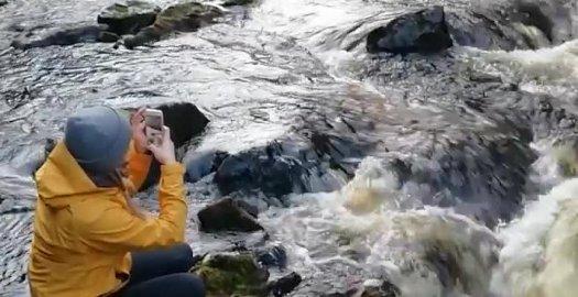Facebook: Vaelluskalavesistö Oulankajoki virtaa Oulangan kanjonissa