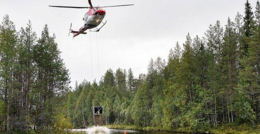Facebook: Video: Livojoelle kuljetetaan helikopterilla 800 tonnia kutusoraa kaloille – reilun...