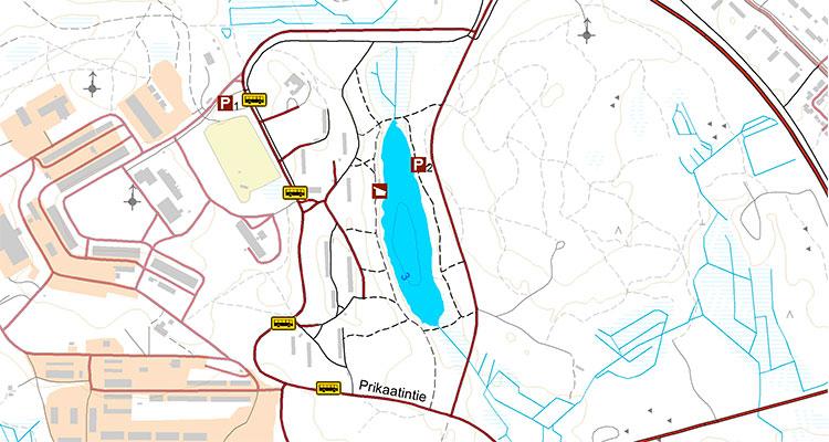 Hoikanlampi's map.