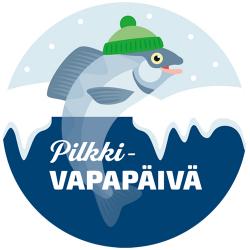 Pilkdagens logotyp, en fisk med mössan.